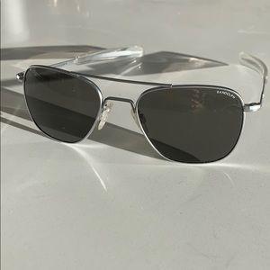 Other - Randolph Aviator Sunglasses - Matte Chrome 140mm